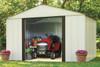 Arlington Shed 10' x 8' Electro Galvanized Steel - Coffee / Eggshell