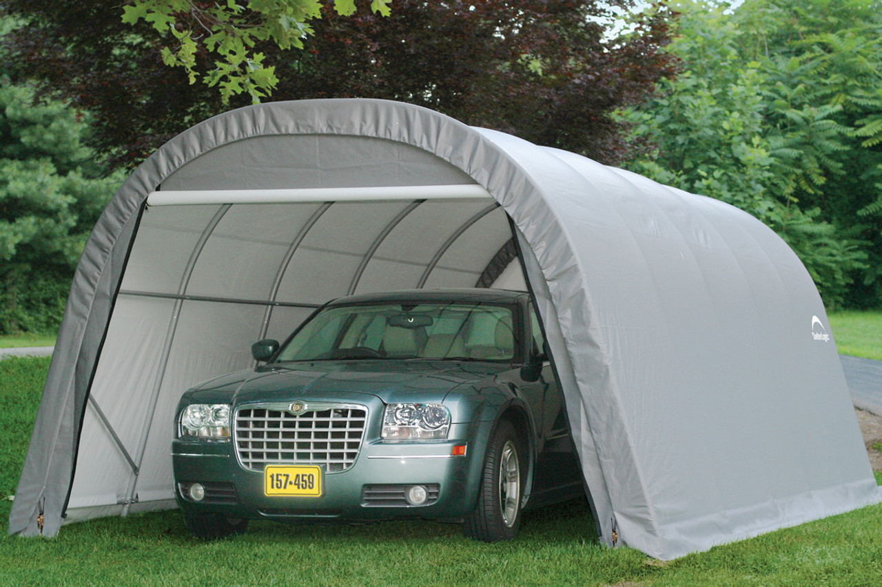 12u0027 Wide x 8u0027 ... & Shelters of New England portable garages carports and canopies ...