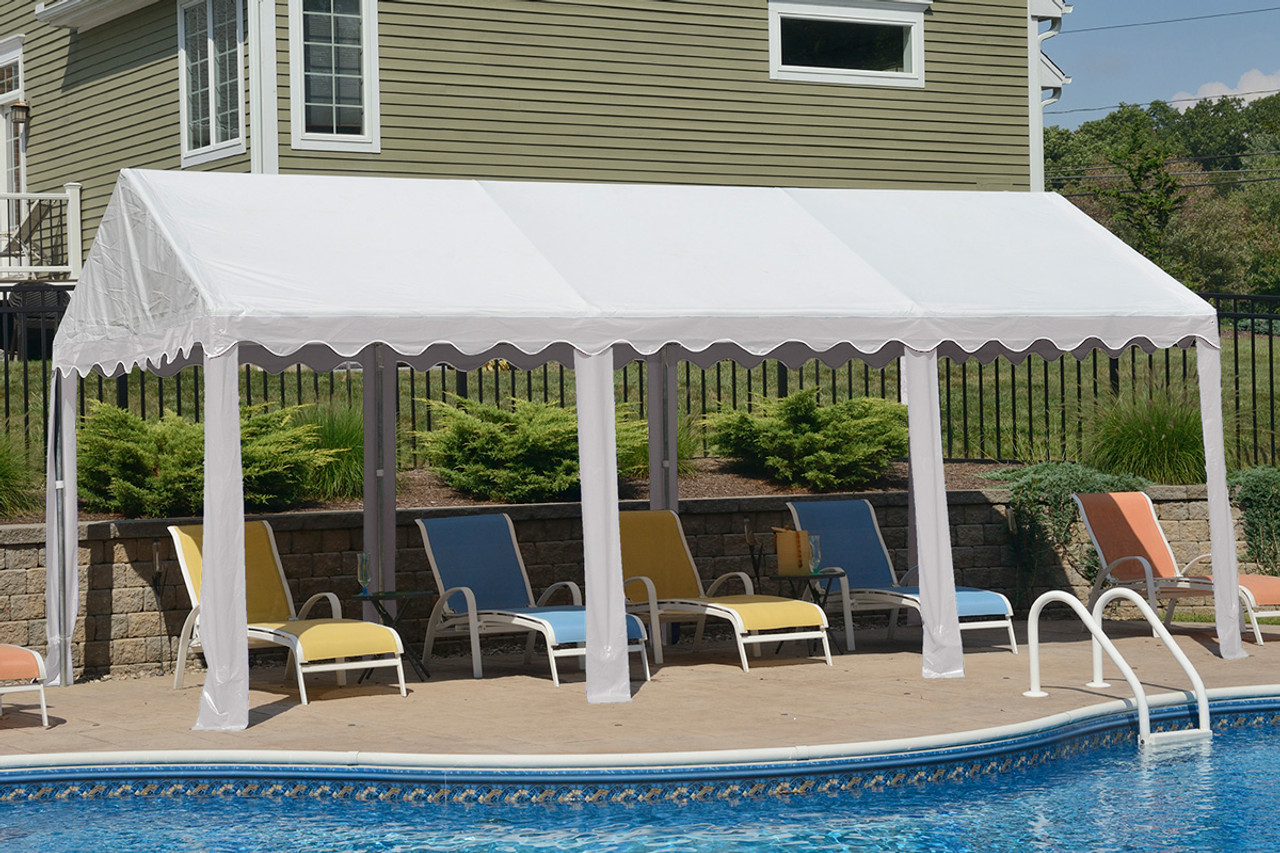 10x20 Party Tent 8-Leg Galvanized Steel Frame White Cover : 10 x 20 frame tent - memphite.com