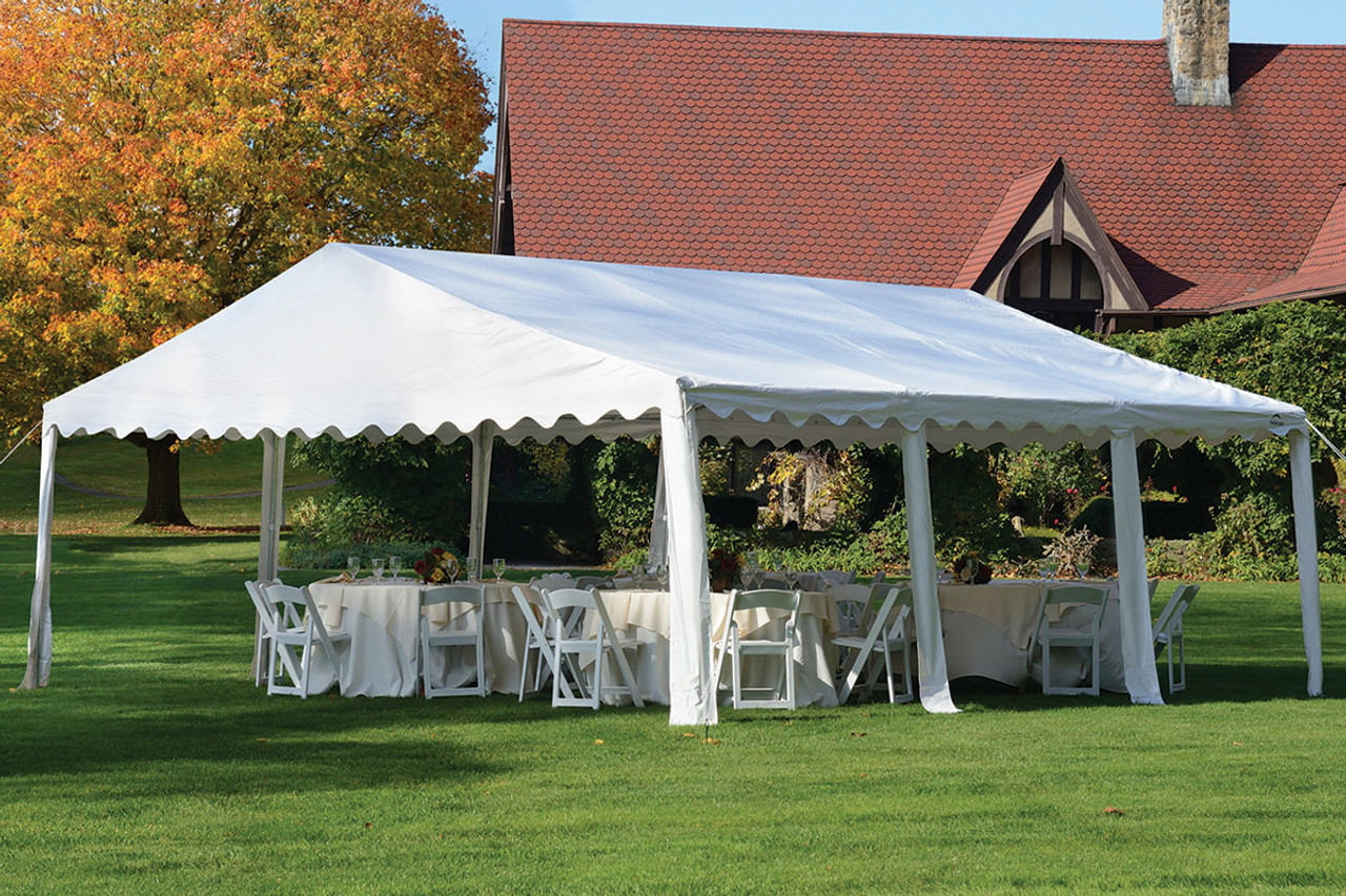 20x20 Party Tent 8-Leg Galvanized Steel Frame White Cover & 20x20 Party Tent 8-Leg Galvanized Steel Frame White Cover ...