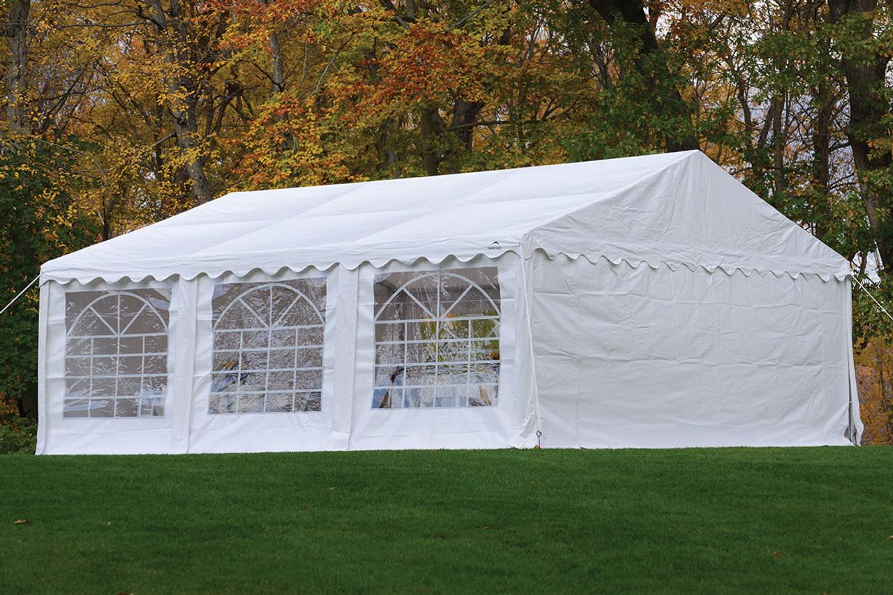 ... 20x20 Party Tent 8-Leg Galvanized Steel Frame White with Enclosure Kit u0026 & 20x20 Party Tent 8-Leg Galvanized Steel Frame White with ...