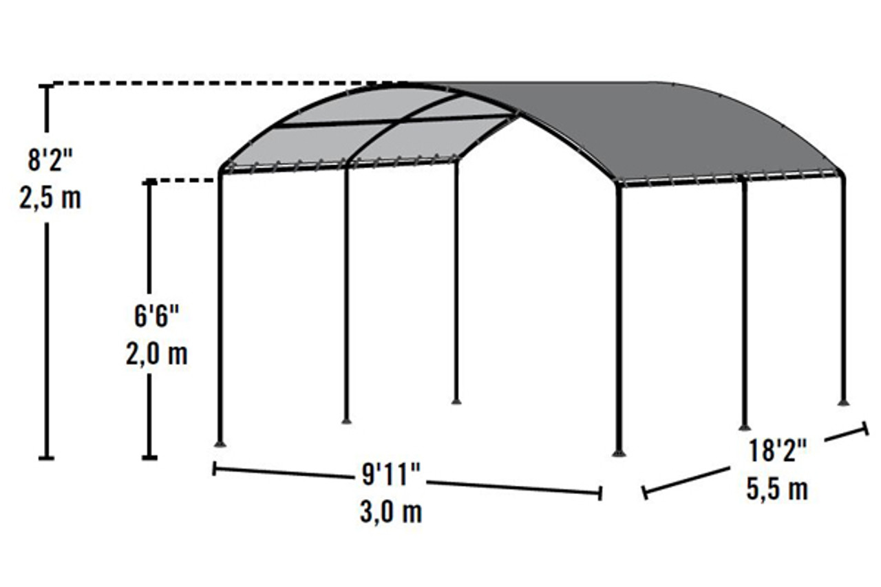 ... 10x18 Monarc Canopy 2  Steel Black Frame Sandstone Cover  sc 1 st  Shelters of New England & 10x18 Monarc Canopy 2