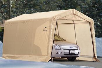 10x15x8 Peak Style Auto Shelter Sandstone Cover