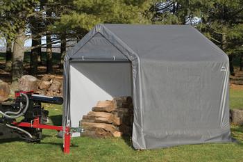 6x6x6 Peak Style Storage Shed Grey