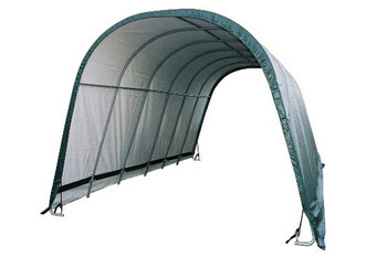 13x24x10 Round Style Run-In Shelter Green