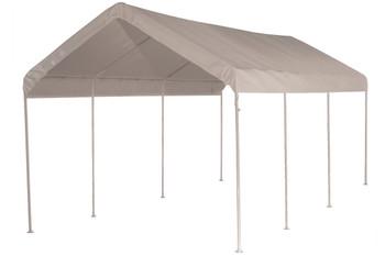 "10x20 Canopy 1-3/8"" 8-Leg Frame White Cover"