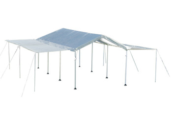 """10x20 Canopy 1-3/8"""" 8-Leg Frame White Cover, Extension Kit"""