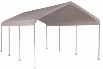 "10x20 Canopy 2"" 8-Leg Frame White Cover"