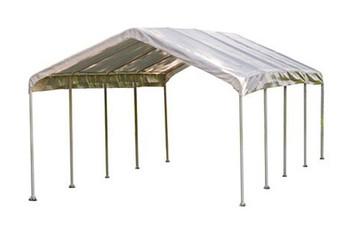 "12x26 Canopy 2"" 10-Leg Frame White Cover"