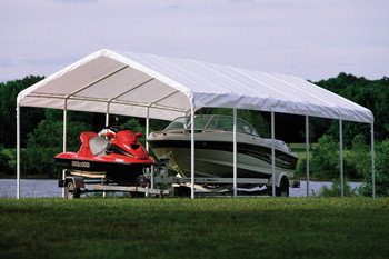"12x30 Canopy 2"" 12-Leg Frame White Cover"