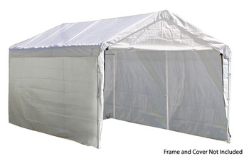 "12x20 White Canopy Enclosure Kit, Fits 2"" Frame"