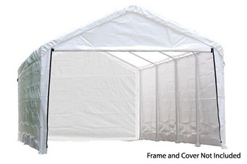 "12x26 White Canopy Enclosure Kit, Fits 2"" Frame"