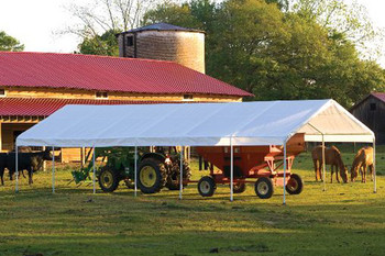"18x40 Canopy 2"" 14-Leg Frame White FR Rated Cover"