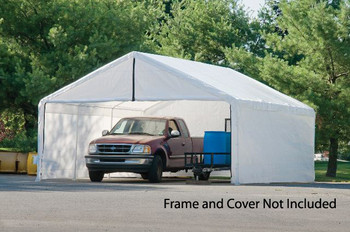 18x40 White Canopy Enclosure Kit, FR Rated