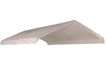 "18x40 White Canopy Replacement FR Rated Cover, Fits 2"" Frame"
