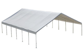 "30x40 Canopy 2-3/8"" Frame White FR Rated Cover"