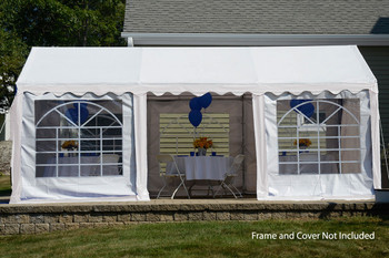 10x20 Party Tent Enclosure Kit & Windows