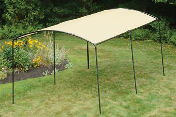 "9x16 Monarc Canopy, 1-3/8"" Steel Black Frame, Sandstone Cover"