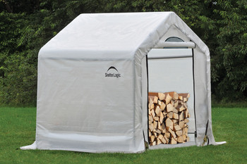 "5 x 3'6"" x 5 Peak Seasoning Shed - 5.5 oz. Clear PE Cover"