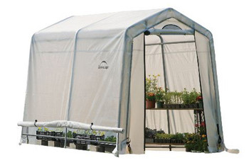 "6x8x6'6"" (3) Rib Peak Style Grow It Greenhouse-in-a-Box"