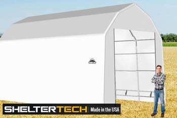 ShelterTech SP Series 15' Wide Barn Available in Multiple Heights - Galvanized Frame