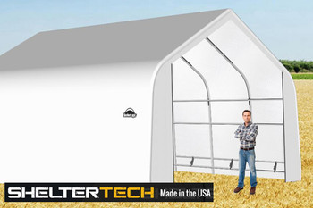 ShelterTech SP Series 20' Wide Peak Available in Multiple Heights - Galvanized Frame