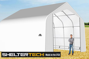 ShelterTech SP Series 22' Wide Peak Available in Multiple Heights - Galvanized Frame