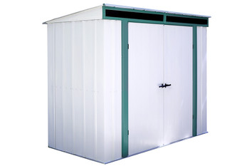 Euro-Lite™ 8' x 4' Hot Dipped Galvanized Steel - Meadow Green / Eggshell Pent Gable