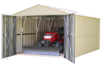 Commander 10' x 20' Hot Dipped Galvanized Steel - Eggshell High Gable