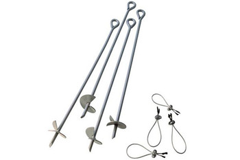 "4 Pcs 30"" Auger Anchors"