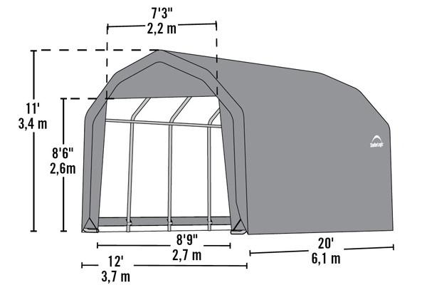 12' Wide x 11' High Barn