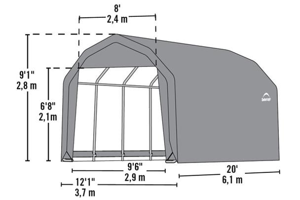 12' Wide x 9' High Barn