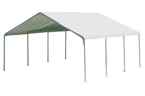 "18x20 Canopy 2"" 8-Leg Frame White Cover"