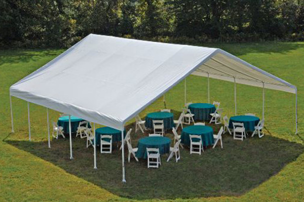 "30x30 Canopy 2-3/8"" Frame White FR Rated Cover"