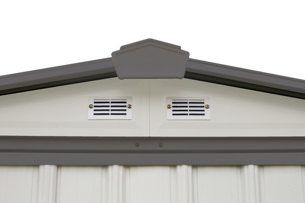 EZEE Shed® , 6x5, Low Gable, 65 in walls, vents, Cream & Charcoal