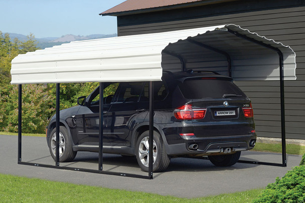 10' Wide x 7' High Arrow Metal Carport