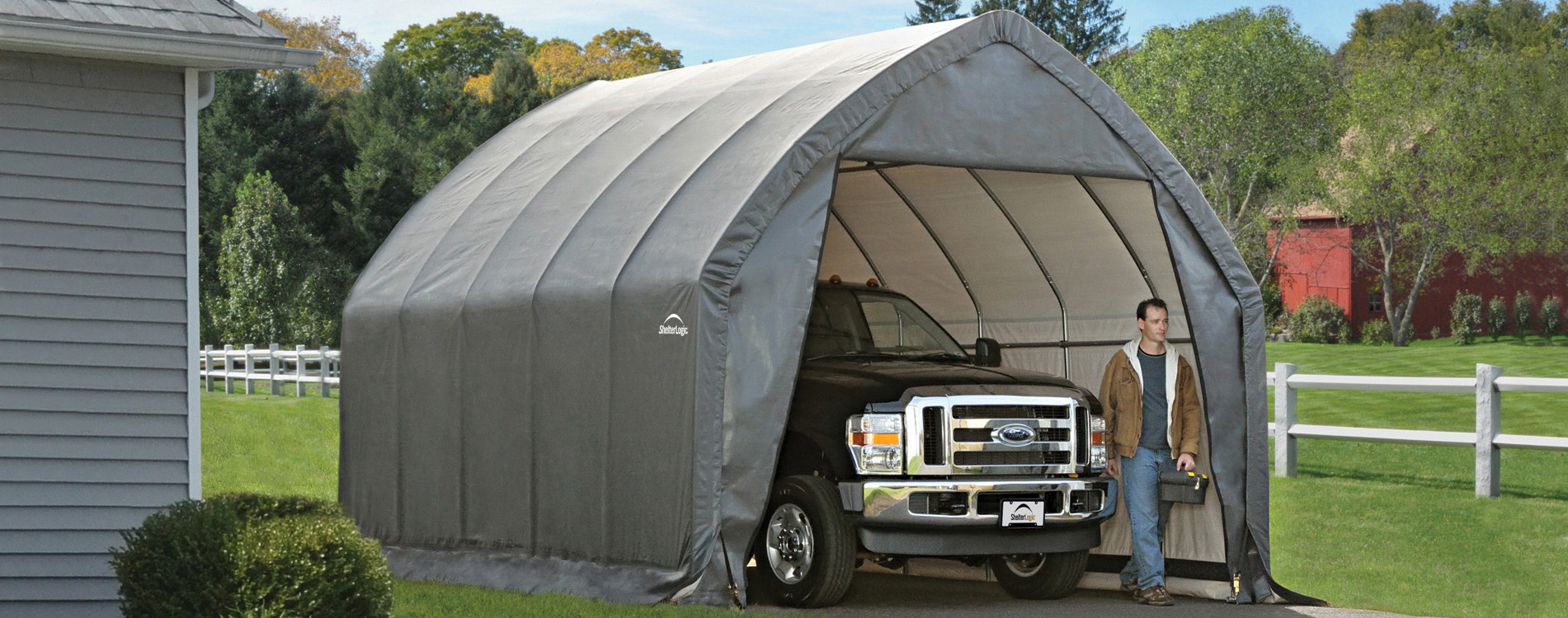 Alpine SUV/Truck Shelter & Shelters of New England portable garages carports and canopies ...