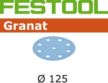 Festool Granat | 125 Round | 100 Grit | Pack of 100 (497168)