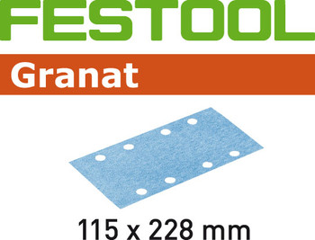 Festool Granat   115 x 228   220 Grit   Pack of 100 (498950)