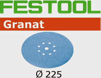 Festool Granat | 225 Round Planex | 120 Grit | Pack of 25 (499638)