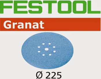 Festool Granat | 225 Round Planex | 100 Grit | Pack of 25 (499637)