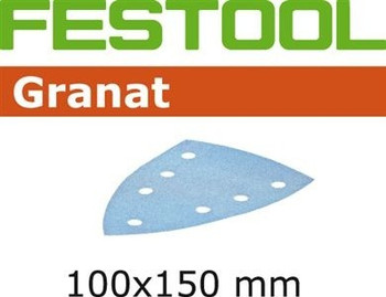 Festool Granat | 100 x 150 DTS 400 | 80 Grit | Pack of 50 (497137)