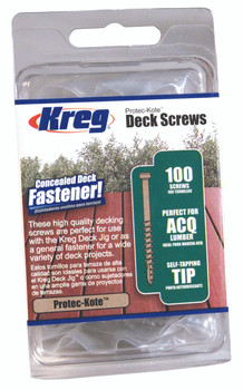 "Kreg Protec-Kote Deck Screws 2"", #8 Coarse, Pan Head, 100 Count (SDK-C2W-100)"