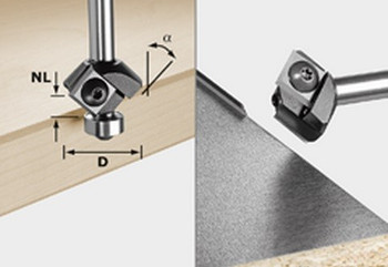 Festool Turning Plate Chamfer Cutter HW (499807)