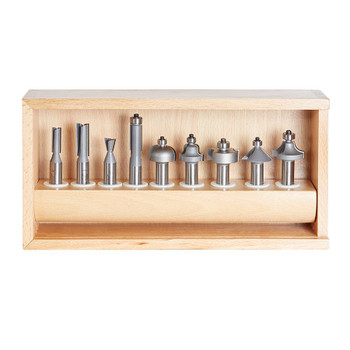 Amana Router Bits 11-Piece Carbide Tipped Set 1/2 Inch Shank (AMS-211)