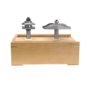 Amana Router Bits Carbide Tipped 2-Piece Reversible Ogee Stile and Rail Cove Raised Panel 1/2 Inch Shank Set (AMS-203)