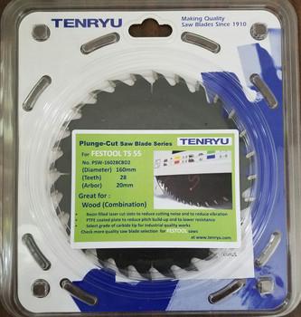 Tenryu PSW-16028CBD2 Wood Combo (Fits Festool TS 55 Festool #495304)