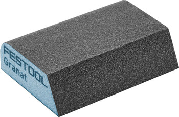 "Festool Granat | Beveled Abrasive Block 2-23/32"" x 3-27/32"" x 1"" | 120 Grit x 6 pieces (201084)"