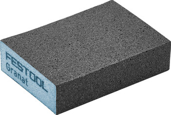 "Festool Granat | Abrasive Block 2-23/32"" x 3-27/32"" x 1"" | 60 Grit x 6 pieces (201081)"