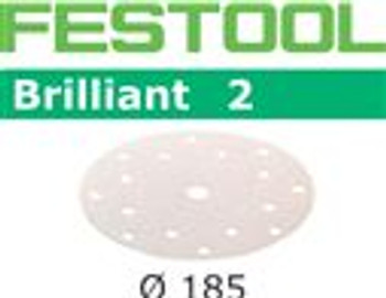 Festool Brilliant 2 | 185 Round | 80 Grit | Pack of 50 (493023)